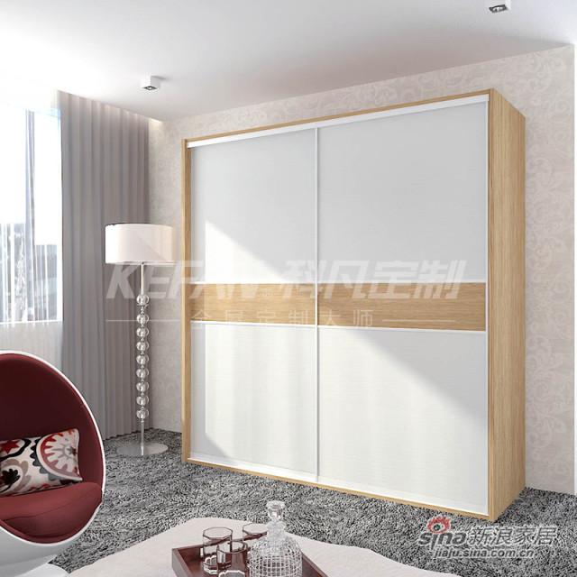 科凡简约现代家居推拉门衣橱 烤漆移门整体板式卧室简易衣柜CY013-4