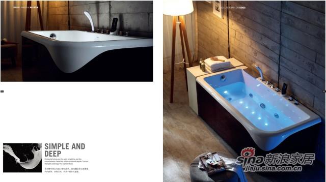 法恩莎卫浴吻系列按摩浴缸-1