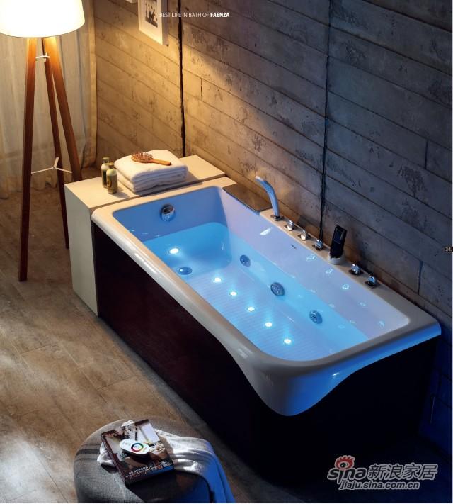 法恩莎卫浴吻系列按摩浴缸-2
