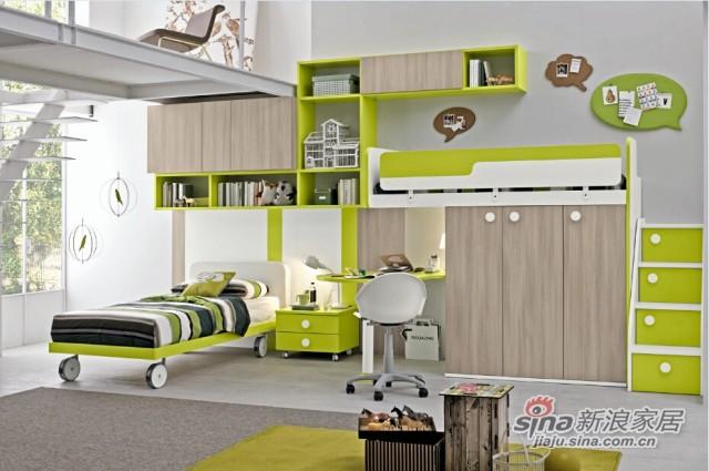 哥伦比尼儿童家具高尔夫系列双床房-0