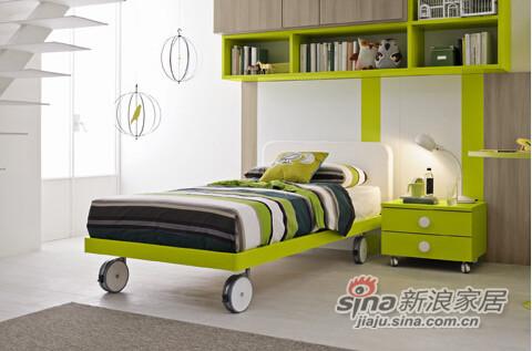 哥伦比尼儿童家具高尔夫系列双床房-2