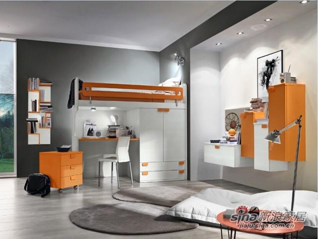 哥伦比尼儿童家具高尔夫系列双床房-4