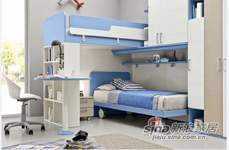 哥伦比尼儿童家具高尔夫系列双床房-5
