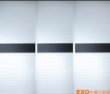 暖白+波浪百叶+流线木纹边框 +皮纹腰带