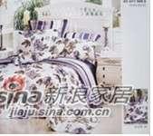 明超雅薇家纺心语心愿(紫)钻石棉大提花印花四件套-0