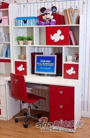 迪士尼儿童彩色家具-经典米奇书桌-0
