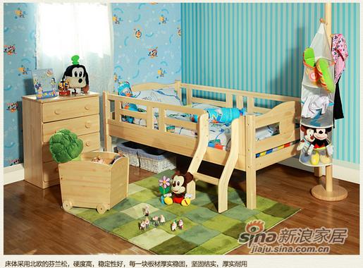 迪士尼松木系列实木百变矮床套房-1