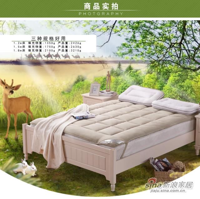 水星家纺 抗菌防螨驼毛加厚床垫-1