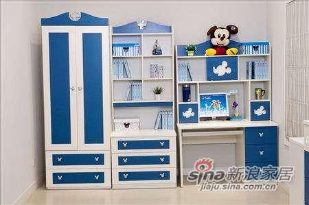 迪士尼儿童彩色家具-美式米奇书桌-0