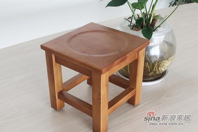 爱凡现代简约实木小方凳