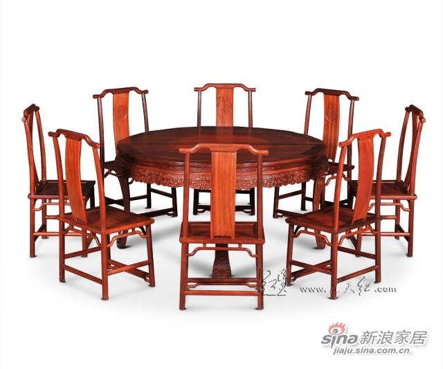 连天红西番莲纹圆桌九件套-1