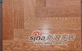 四合地板三层实木复合地板地热地板新艺拼地板白你枪托色 -0