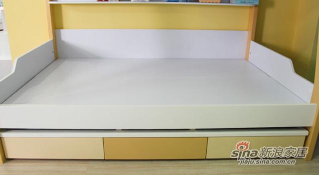 梵尔特系列现代简约黄色中纤板双层组合床-4