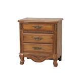 艾芙迪 卧室家具 实木床头柜 储物柜 原木色 ACL50B-702