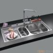 GORLDE优质不锈钢水槽/洗菜池 心仪系列2105FY(大小盆)