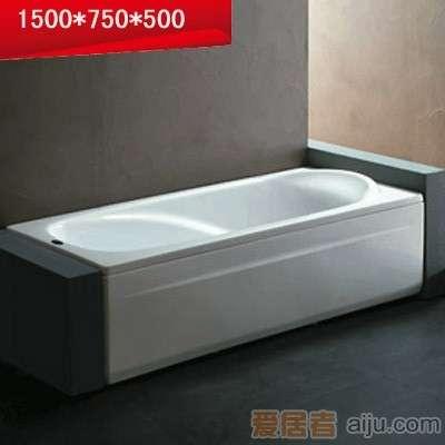法恩莎单裙浴缸-F1512Q(1500*750*500mm)不含去水1