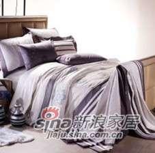 紫罗兰家纺床上用品全棉活性印花绣花四件套柏拉图VPEF083-4-0