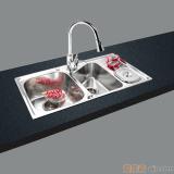 GORLDE优质不锈钢水槽/洗菜池 环保星系列HBS-8#(大小盆)