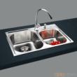 GORLDE优质不锈钢水槽/洗菜池 银莱茵系列2001FL(大小盆)