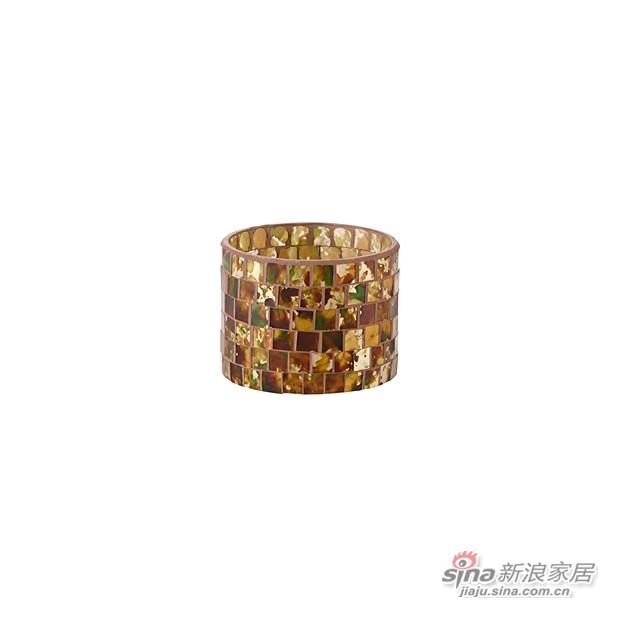 Mosaic 柱状贴片玻璃烛台-0