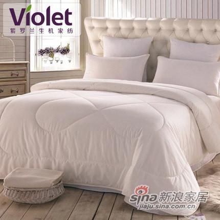 紫罗兰家纺 全棉洁菌抗菌防螨纯棉被子被芯-0