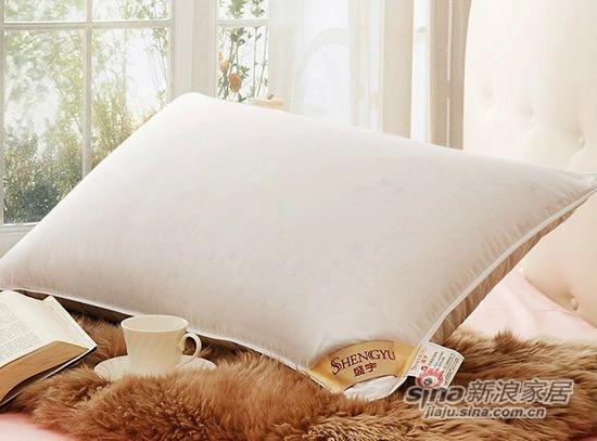 盛宇家纺优质白鸭绒羽绒枕芯-0