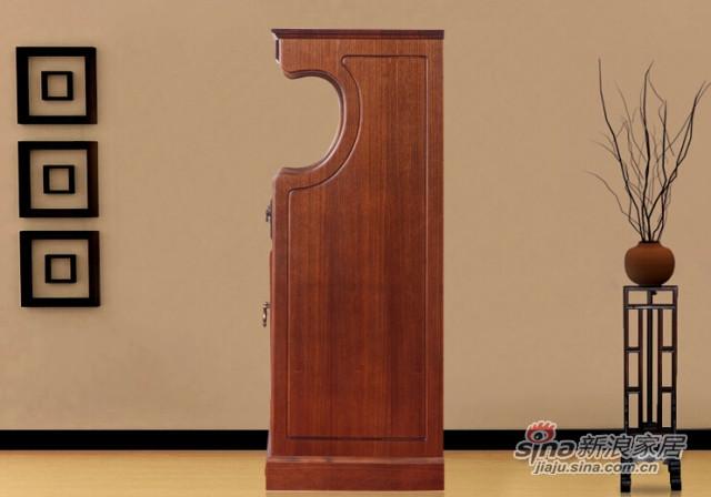 蓝鸟家具 多功能储物收纳储藏置物柜 褐色-1