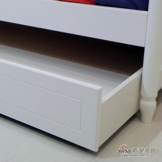 【新干线】板式1米床青少年床单层储物床欧式田园卧室家具-3