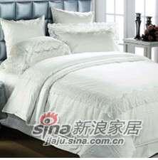 紫罗兰家纺床上用品全棉提花六件套凝香米白VYL1003-6-0