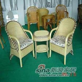 凰家御器花艺组合藤椅藤家具三件套NH-A033-0