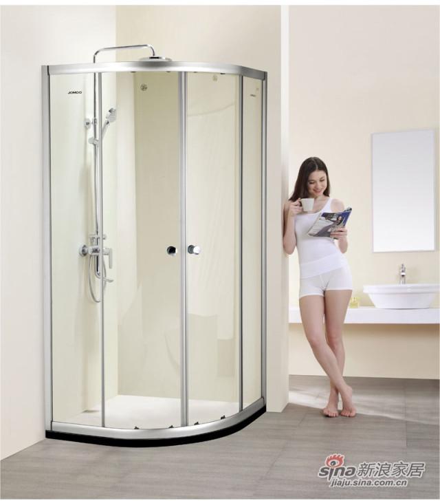 九牧整体浴室钢化玻璃淋浴房