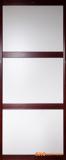 暖白三等分+皇家枣红立柱框