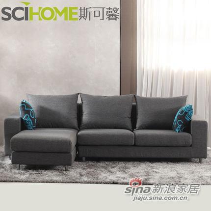 斯可馨 布艺沙发组合现代三人位小户型简约拆洗沙发 -1