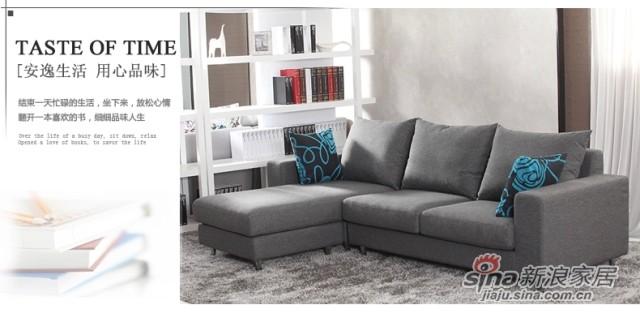 斯可馨 布艺沙发组合现代三人位小户型简约拆洗沙发 -2