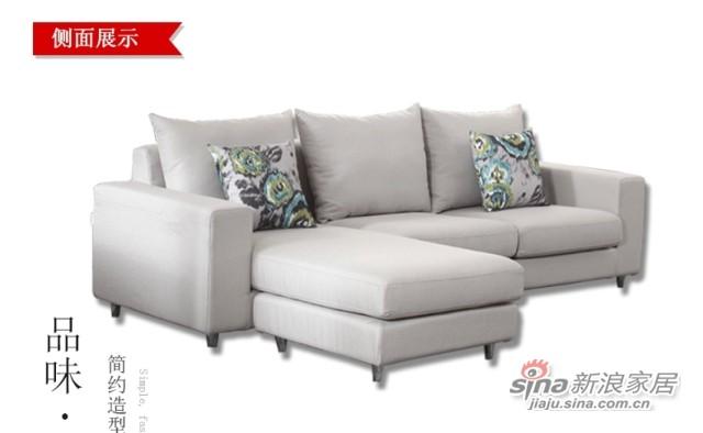 斯可馨 布艺沙发组合现代三人位小户型简约拆洗沙发 -3