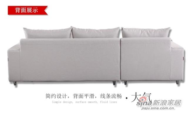 斯可馨 布艺沙发组合现代三人位小户型简约拆洗沙发 -4