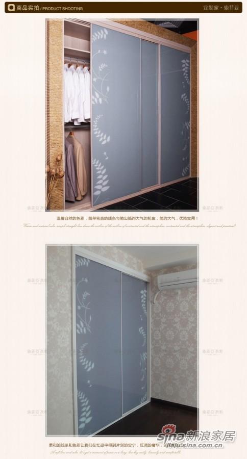 索菲亚衣柜-C3蕨叶亮灰色玻璃趟门衣柜-1