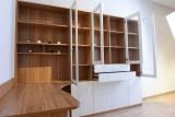 弧形优雅的书桌,简约实用的藏书柜