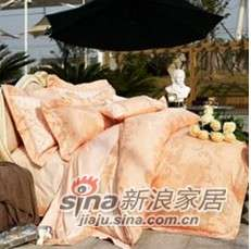 紫罗兰家纺床上用品全棉仿丝棉提花四件套花之彩VPEA512-4-0