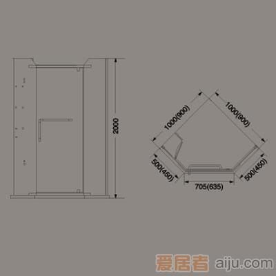 惠达-HD2103Z简易淋浴房1