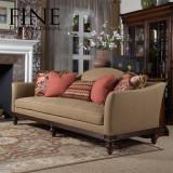 FINE精制三人位沙发实木美式休闲客厅沙发