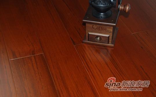 书香门地美学地板 15mm柚木多层实木地板-0