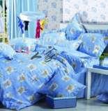 南方寝饰专柜正品儿童四件套俏皮熊粉蓝