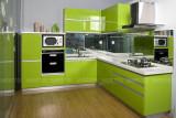 色泽靓丽的整体橱柜 满心满眼都是绿