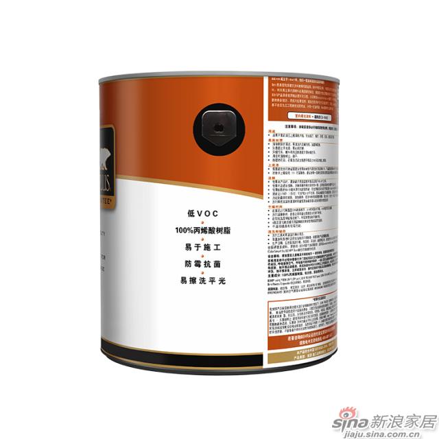 百色熊超级室内哑光涂料 1加仑-2