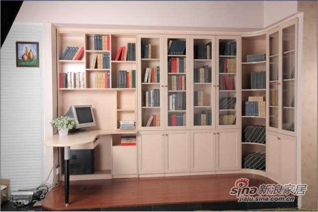 适而居红橡木同色铝框书柜门-0
