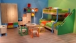 哥伦比尼儿童家具凯特系列双层床