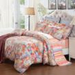 水星家纺 纯棉四件套 全棉床上用品 花卉床单被罩