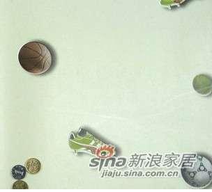 优阁壁纸足球儿童房环保墙纸灵动系列ld8211 -0