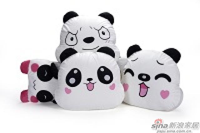 家饰摆件--熊猫抱枕-5